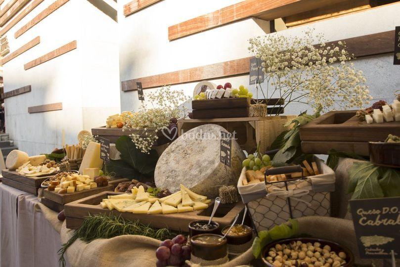 Bodegón de quesos asturianos