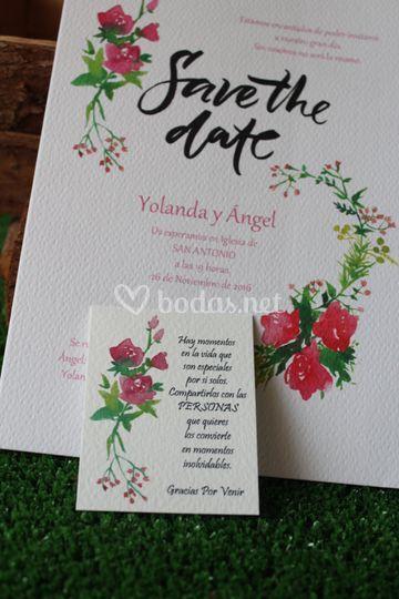 Tarjeta Save The Date