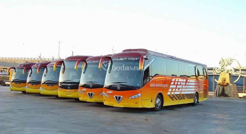 Alquiler autobuses Madrid de Autocares Hermanos Bravo Vázquez