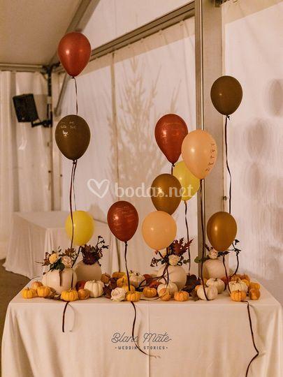 Seating plan boda otoñal