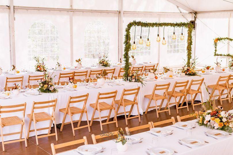 Banquete de boda otoñal