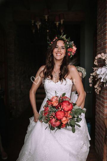 Ramo de novia estilo clásico.
