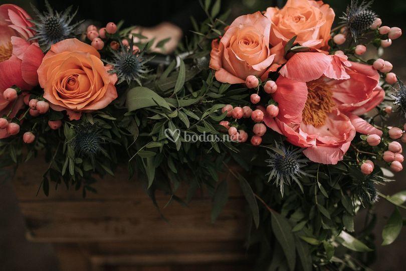 Detalle floral de la ceremonia