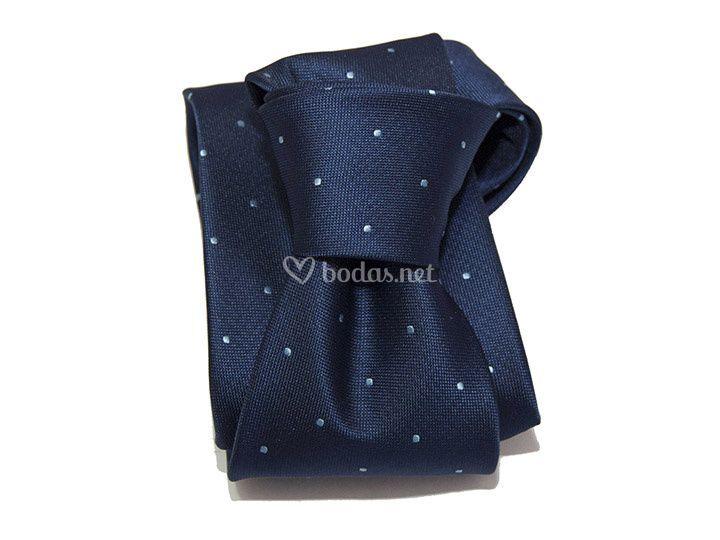 Corbata azul topo