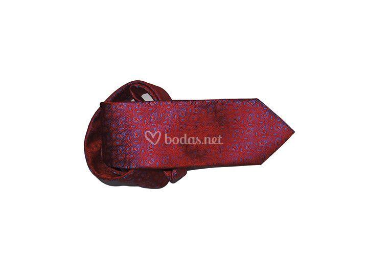Corbata de cachemir rojo