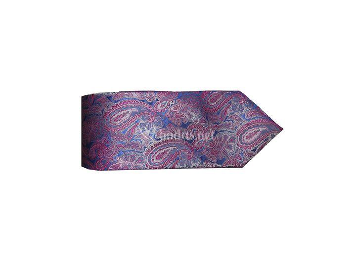 Corbata de cachemir rosa