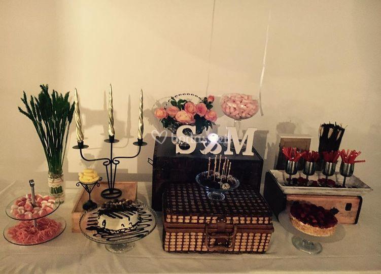 Decoración de la mesa dulce