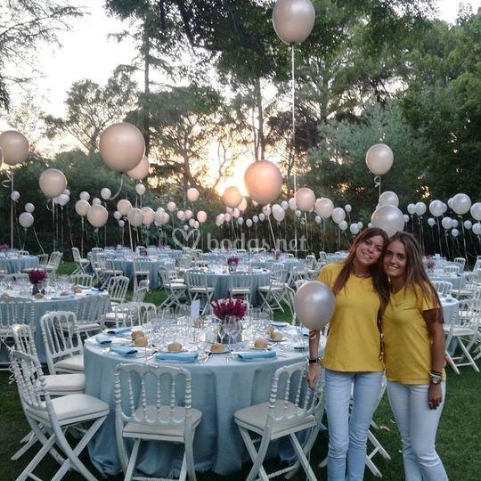 Decoración con globos en bodas