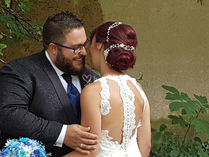 Detalle posterior novia