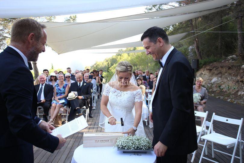 Una ceremonia diferente