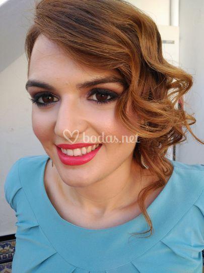 Maquillaje ahumados marrón