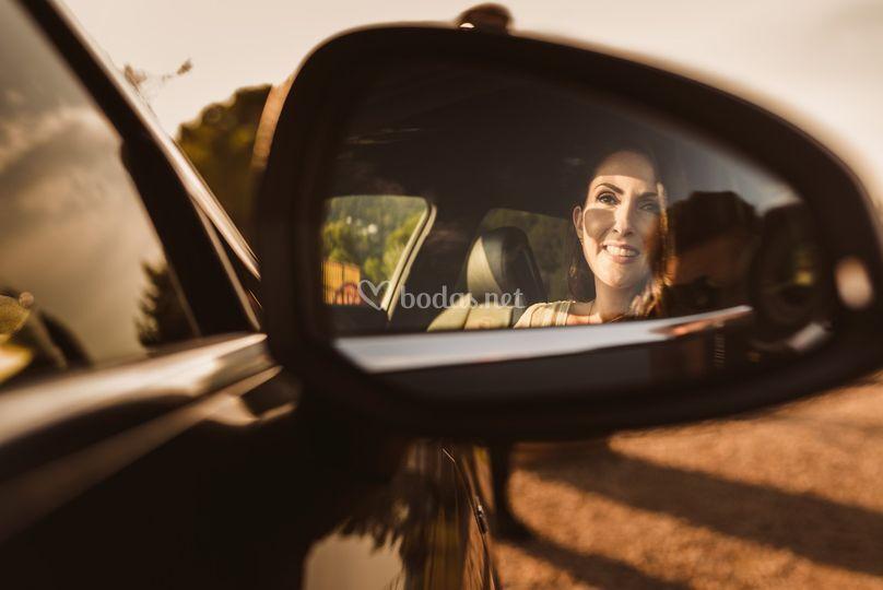 Esperando en el coche