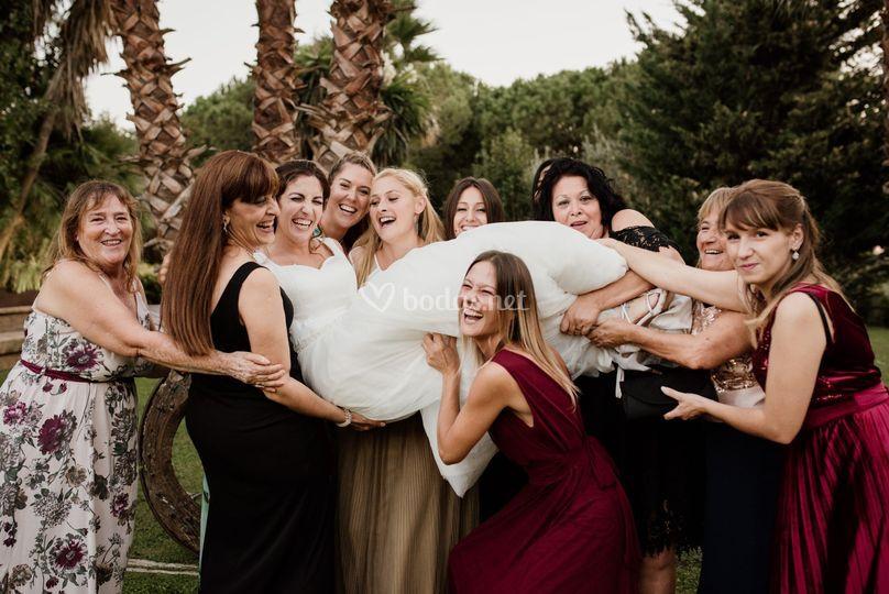 ¡Arriba la novia!