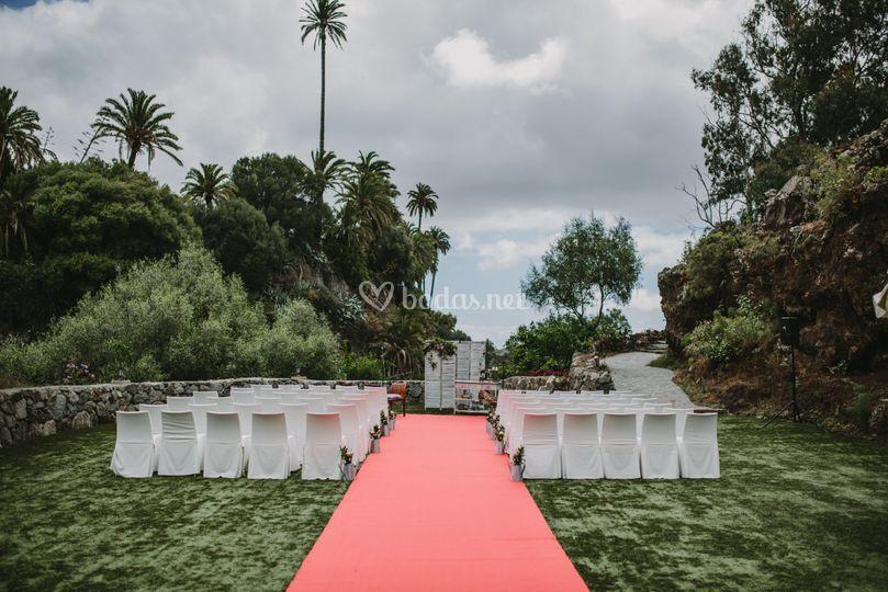 Zona exterior para ceremonias