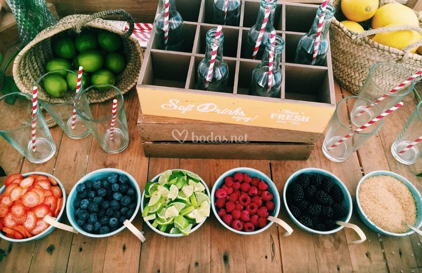 Mesas de fruta