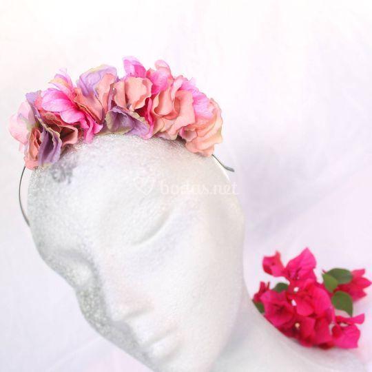 Diadema petalos de flores