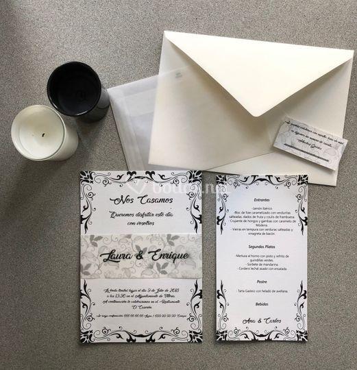 Invitación moderna y clásica