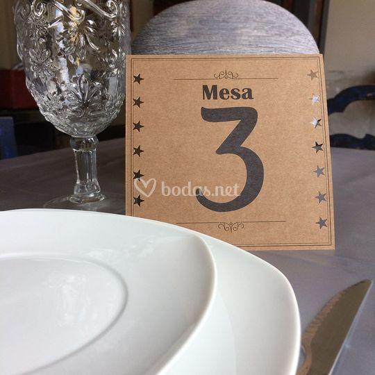 Meseros/Centro de mesa