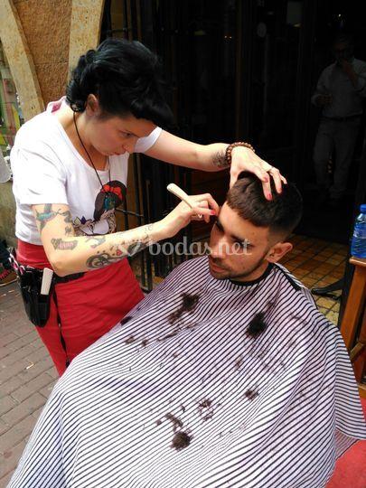 Barbería para el novio