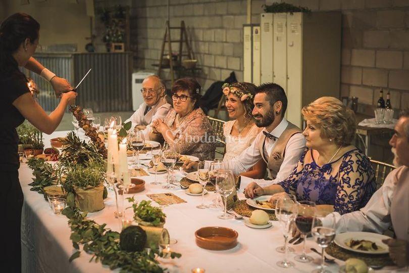 Durante el banquete