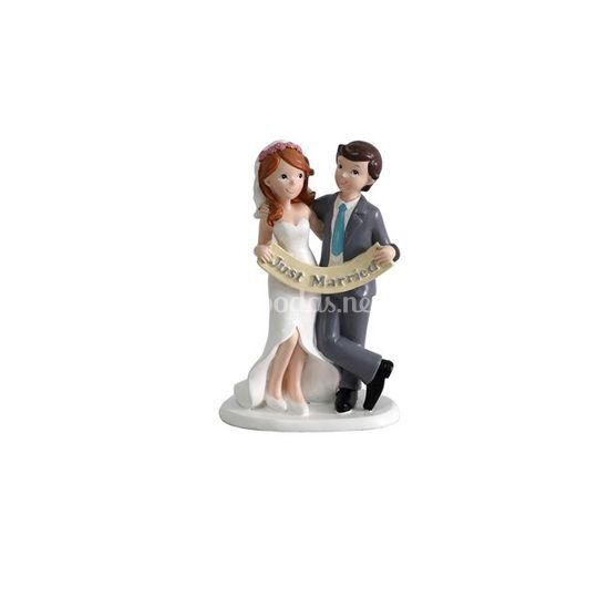 Figura Novios recién casados