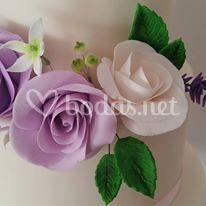 Flores de pasta de azúcar