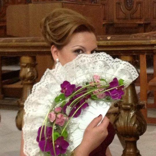 Ramo de novia abanico