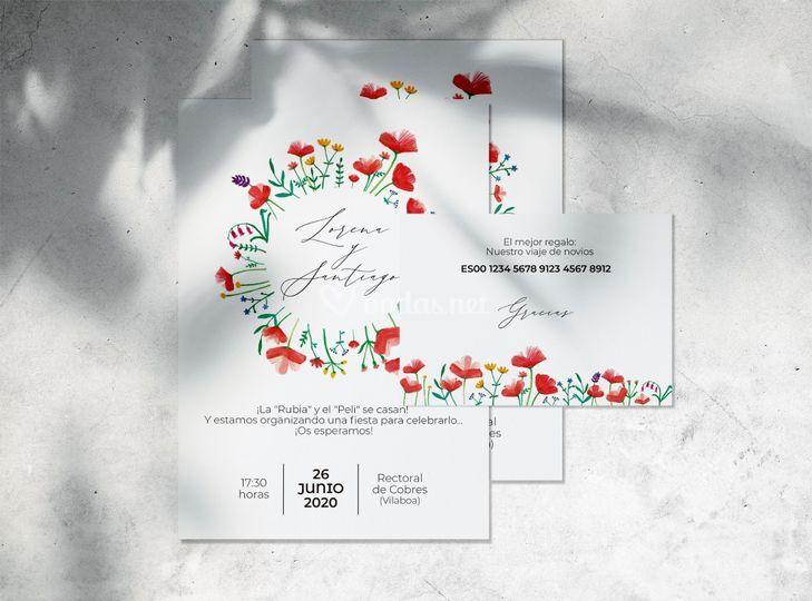 Invitación amapolas