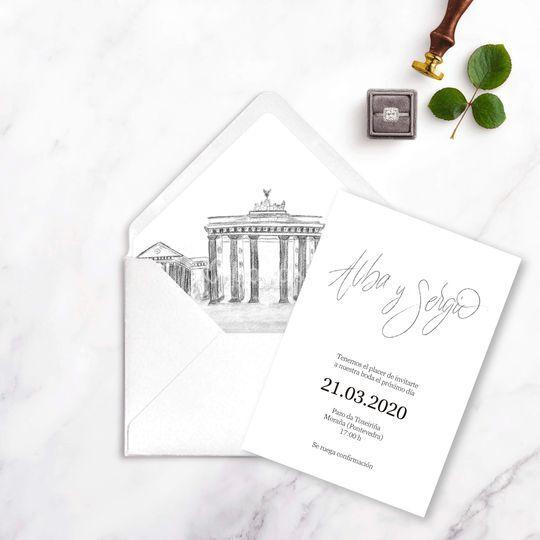 Invitación caligráfica