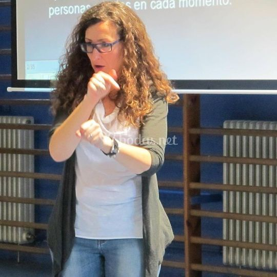 Intérprete en lengua de signos