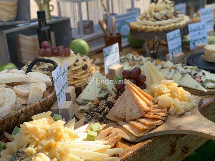 Detalle de quesos