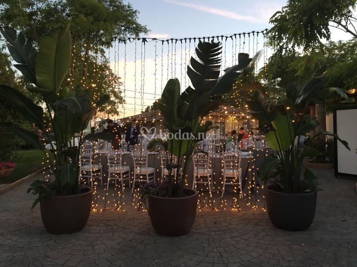 Decoración boda noche