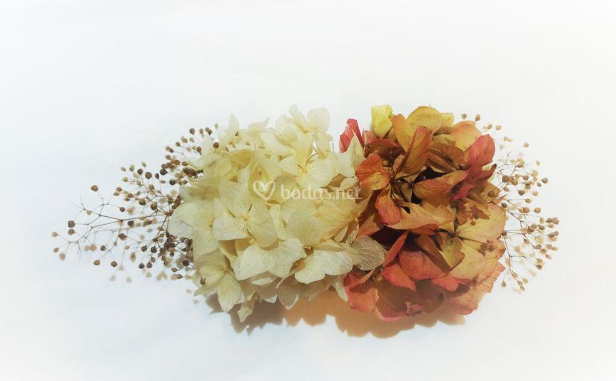 Tocado hortensias preservadas