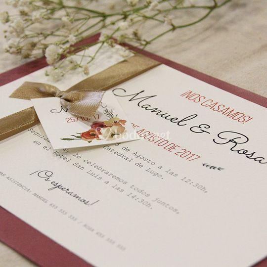 Plantillas invitaciones boda