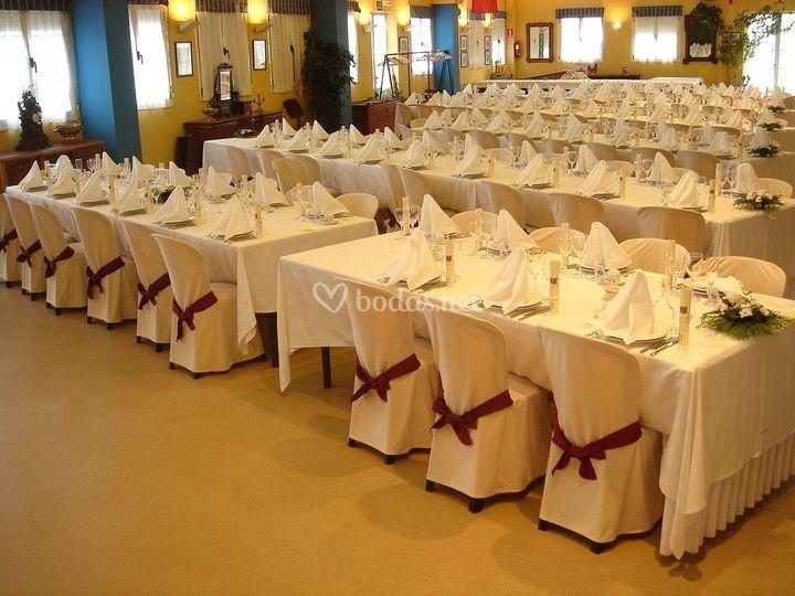 Salón Centenario. Presentación mesas