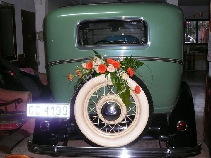 Decoración de coche antiguo