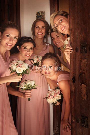 Fotografía amigas de la novia