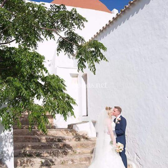 Recién casados en Ibiza