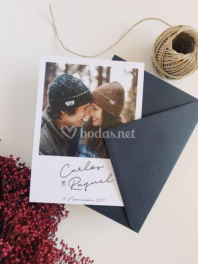 Invitación polaroid