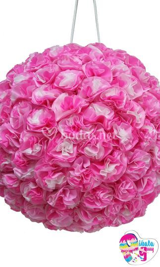 Piñata de flores tricolor