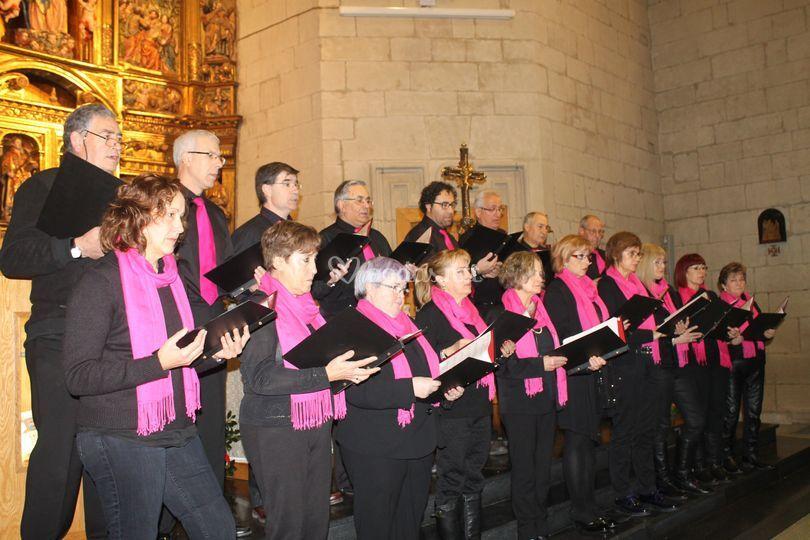 Cantando en un recital