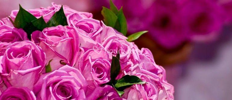 Decoración floral en la boda