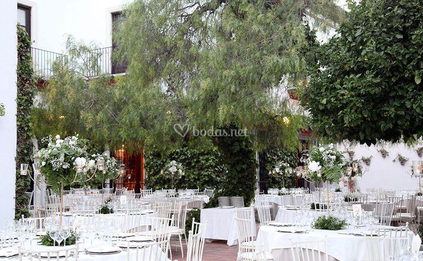 Montaje para boda en el exterior