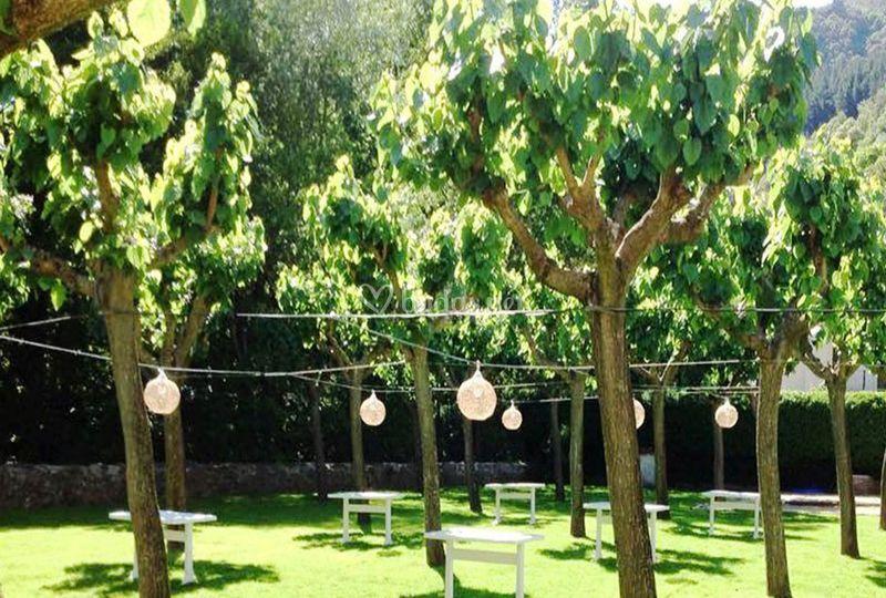 Jardín banquete