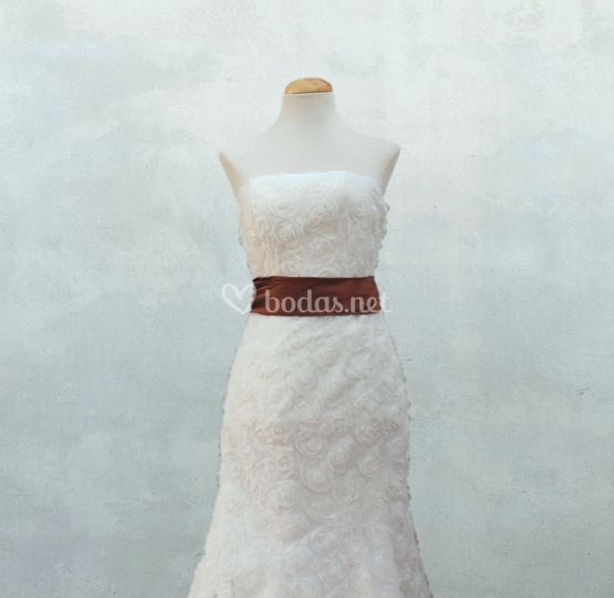 Vestido novia palabra honor