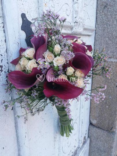 Bouquet de novia de calas
