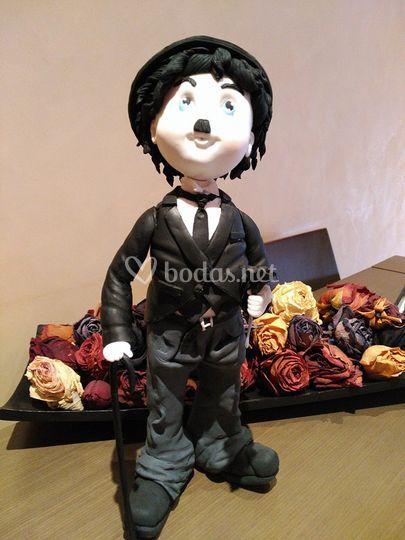 Figura porcelana Chaplin