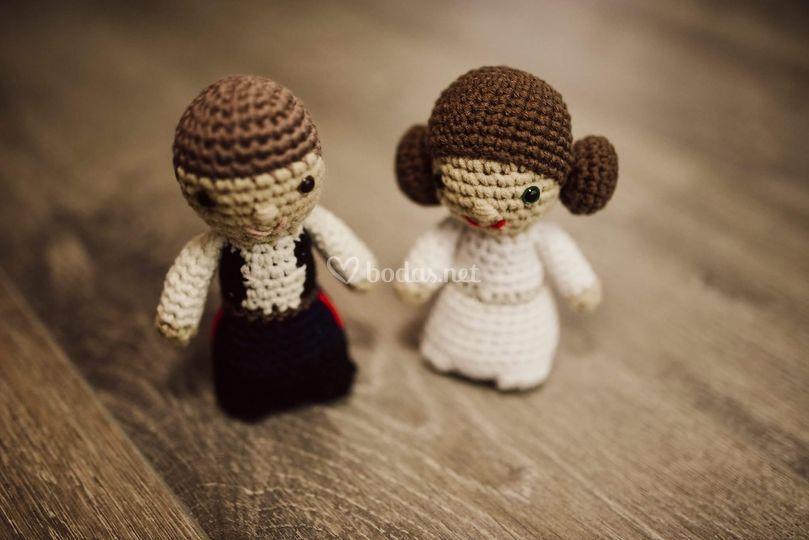 Han Solo y Princesa Leia