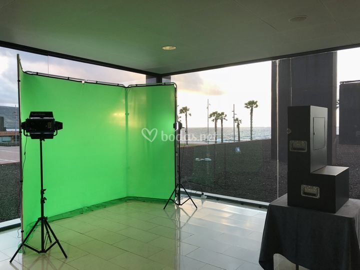 Chroma key-fotomaton evento
