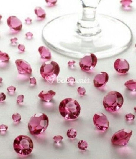 Diamantes para las mesas(boda)